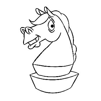 icon cartoon knight